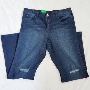 INC Denim Flare Distressed Jeans Regular Fit 16